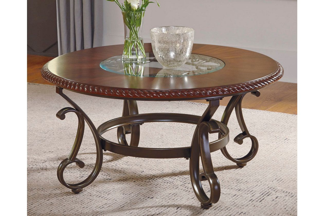 Gambrey Coffee Table Reddish Brown Contemporary Coffee Table