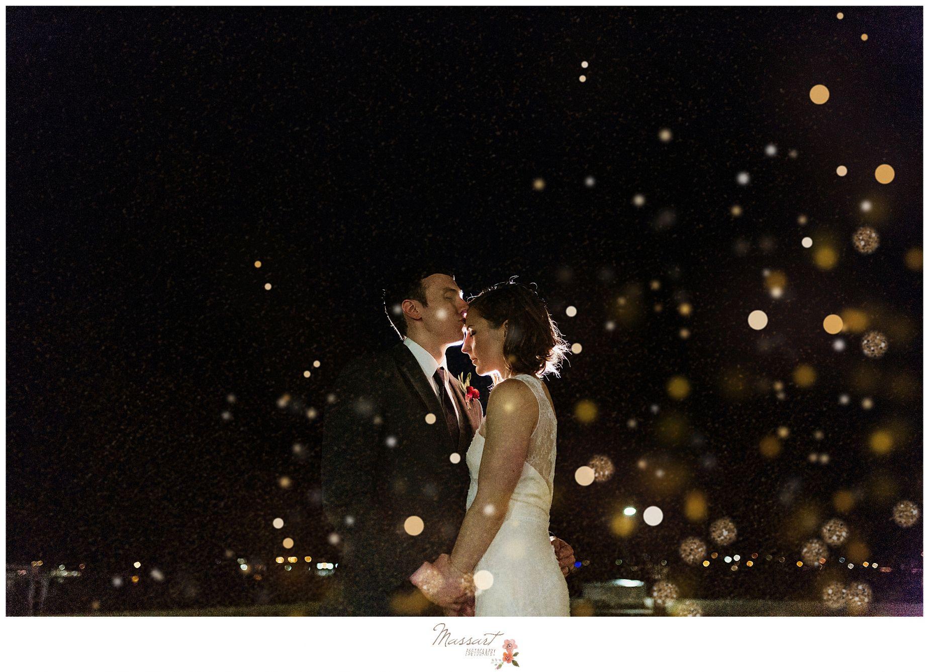 Nighttime Wedding Portraits In Middletown Ri Photographed By Wedding Portrait Photographers Massart Photog Newport Wedding Wedding Portraits Night Time Wedding