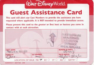 Changes Coming to Disney's Guest Assistance Card in October - Rolling with the Magic