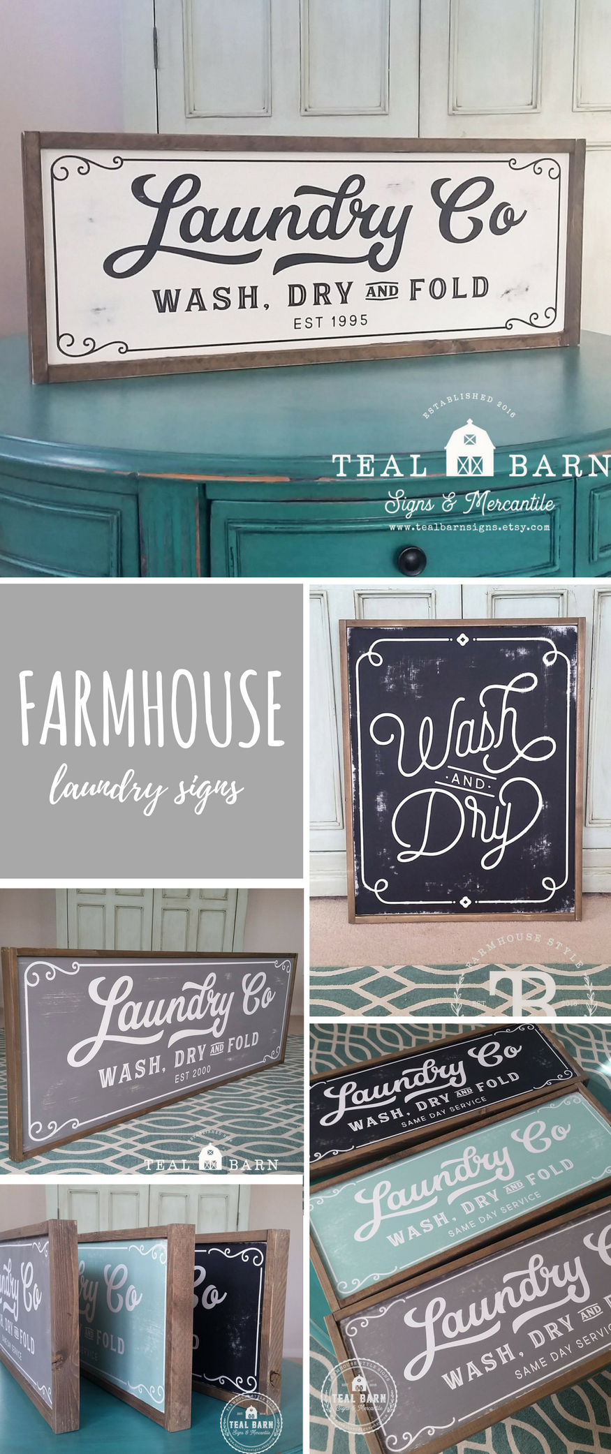 Adorable Farmhouse Laundry Signs On Etsy Love The Chalkboard