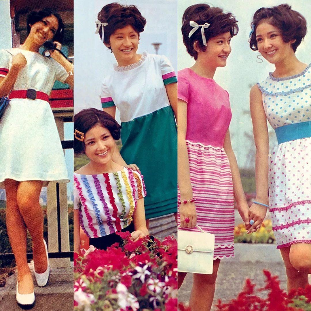 1968年〜1969年 フレッシュなヤング 夏のワンピース サイケ