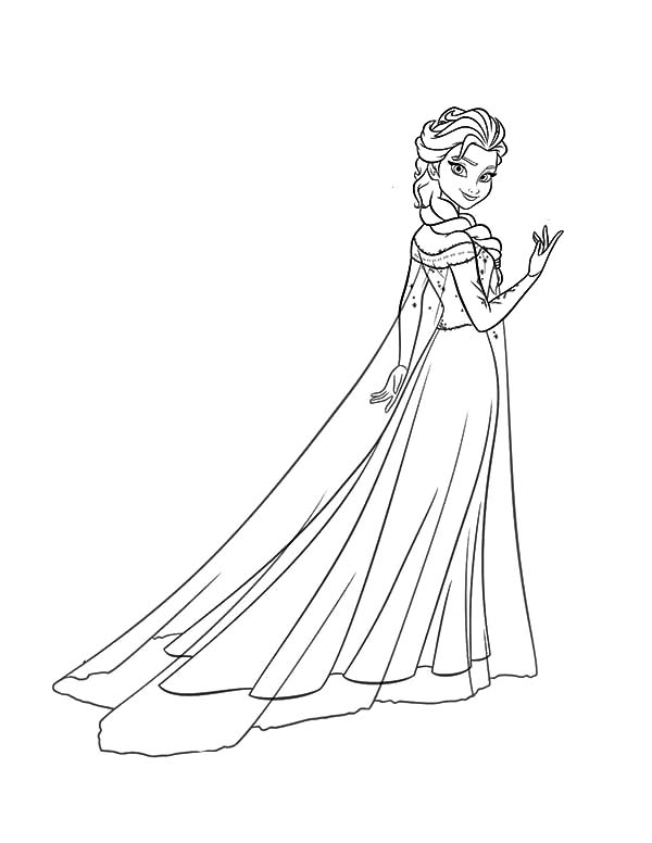 Queen Elsa Wearing Ice Gown Coloring Pages Coloring Sky Elsa Coloring Pages Princess Coloring Pages Frozen Coloring Pages