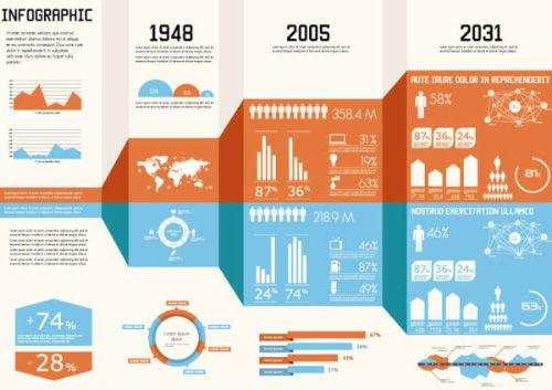 30 free templates and vector kits for infographics   hongkiat.com