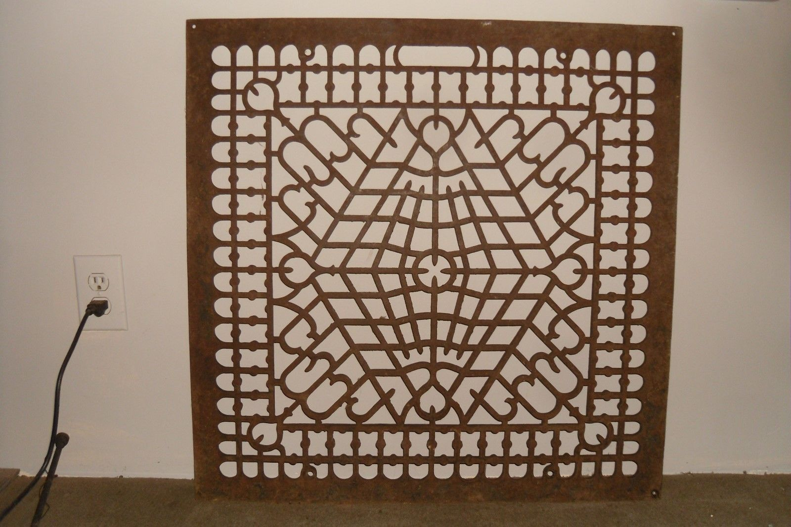 Antique Large Grate Cast Iron Victorian 29