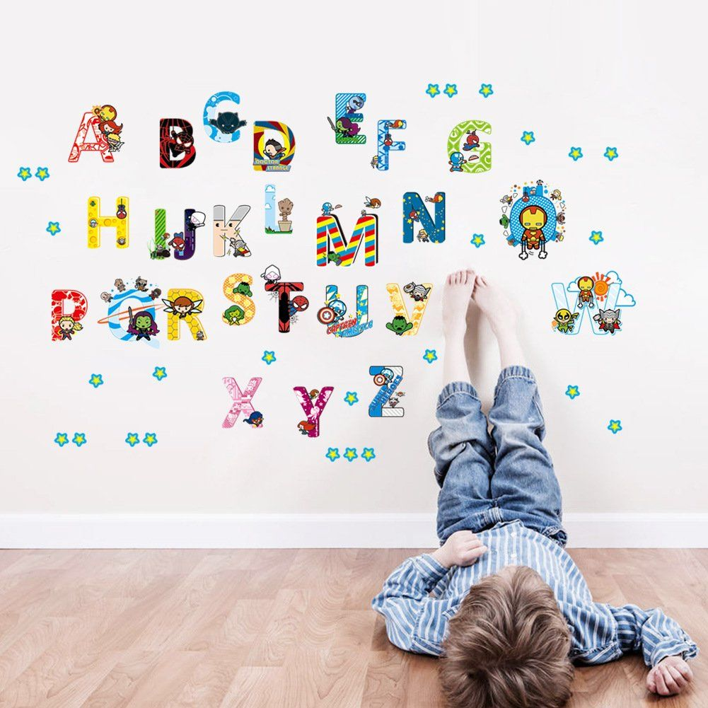 Decorstyle Alphabet Wall Decals Baby And Toddler Wall Decor Fun