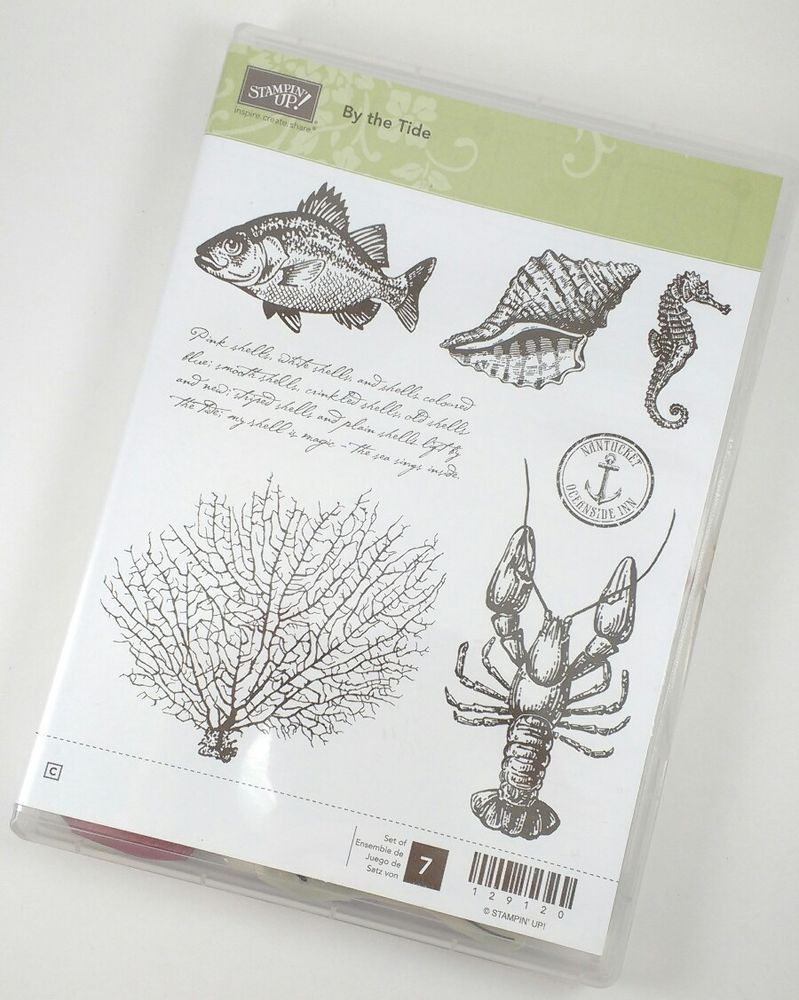 Stampin' Up By the Tide Clear Mount Stamp Set Fish Lobster Seahorse Nature…