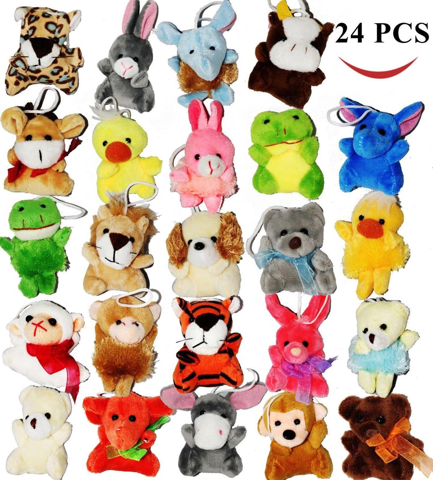 24 easter egg stuffer pack of 24 mini animal different cute animal toys kids gift ebay negle Gallery