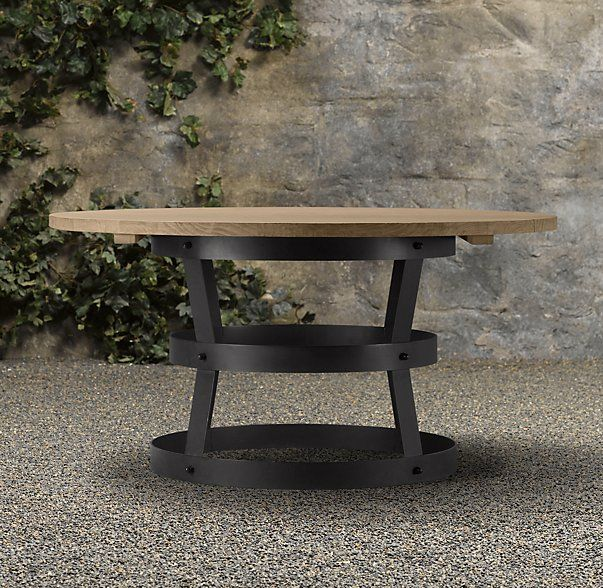 Teak Metal Basket Dining Table Dining Table Wrought Iron Patio Furniture Metal Outdoor Table