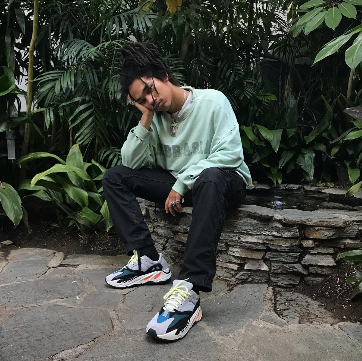 79690be1f18 SPOTTED  Luka Sabbat In OFF-WHITE Nebraska Jumper And Yeezy Runner 500  Sneakers – PAUSE Online