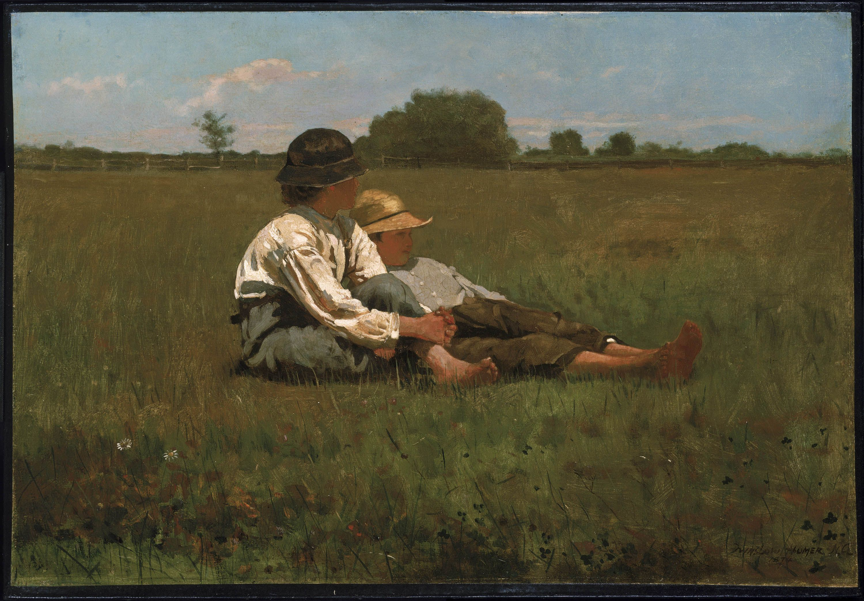 Museum of Fine Arts, Boston - Winslow Homer - 'Boys in the Pasture'