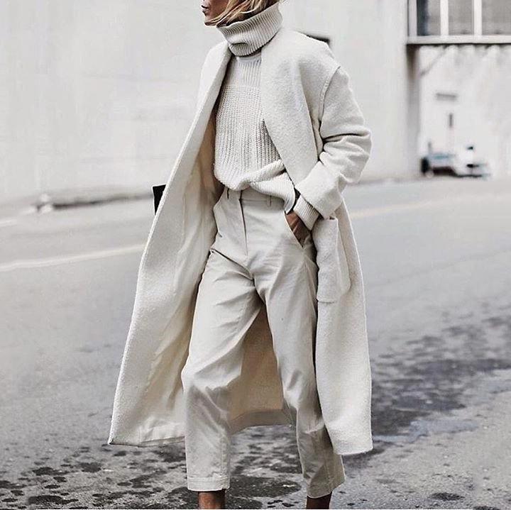 Fashion Chic Plain Loose Woolen Long Coat