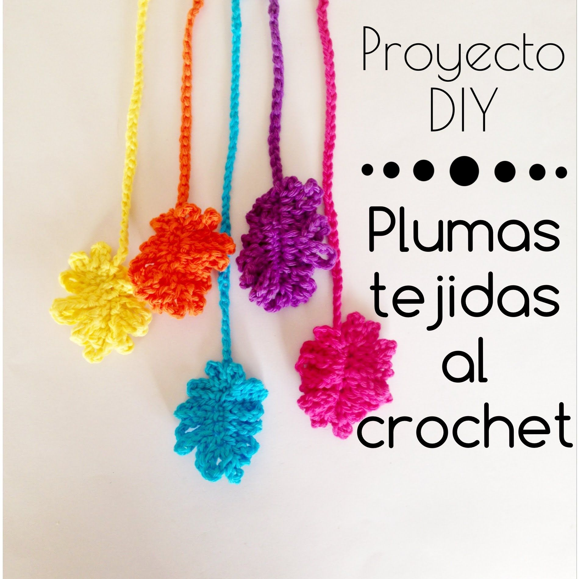 Plumas tejidas al crochet | tutoriales by adorei | Pinterest | Pluma ...