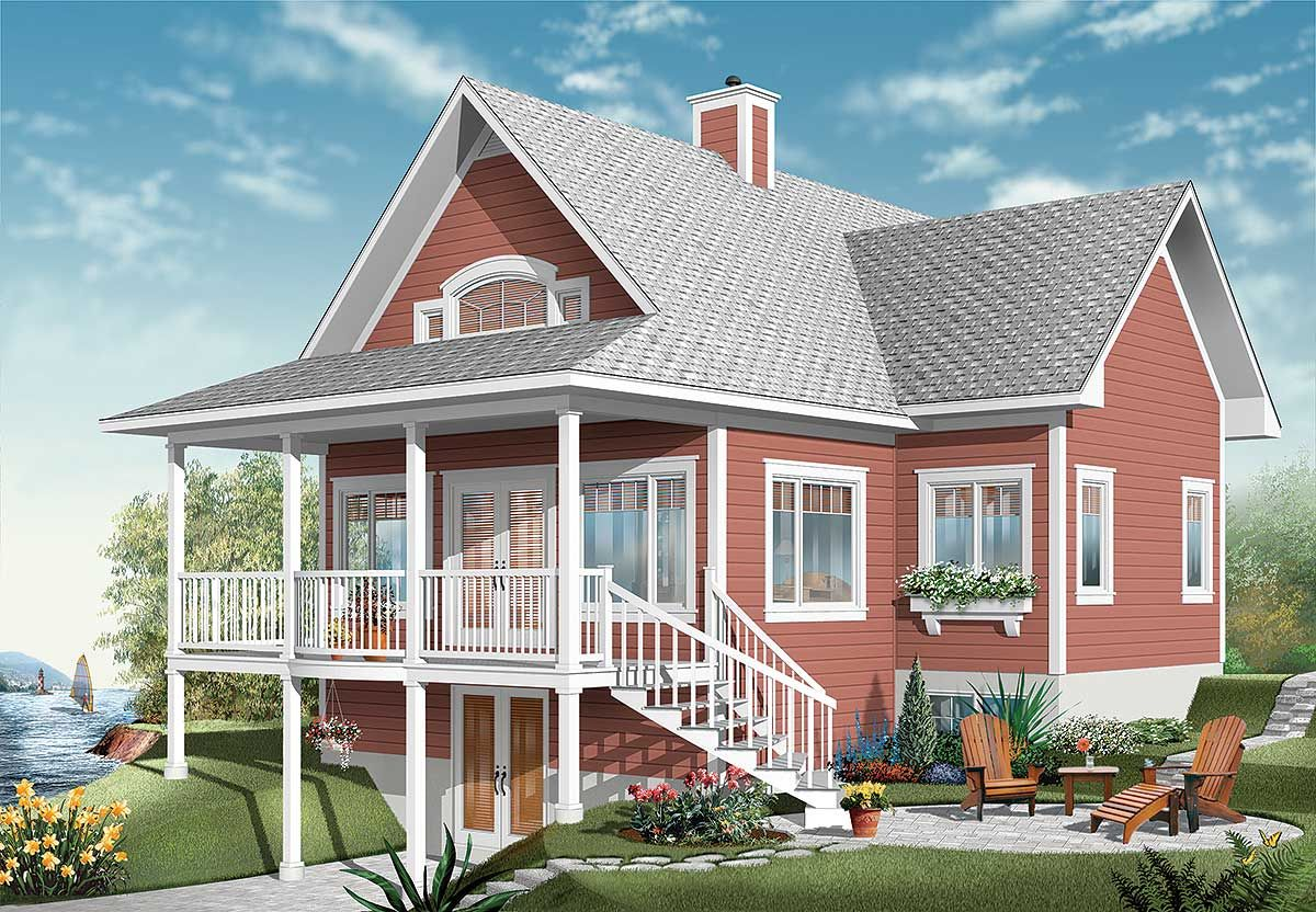 Plan dr dream design with finished lower level lake house