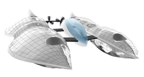 VENE Drone 空気より軽いヘリウムガスを充填したバルーンを機体に採用し、墜落のリスクを軽減。