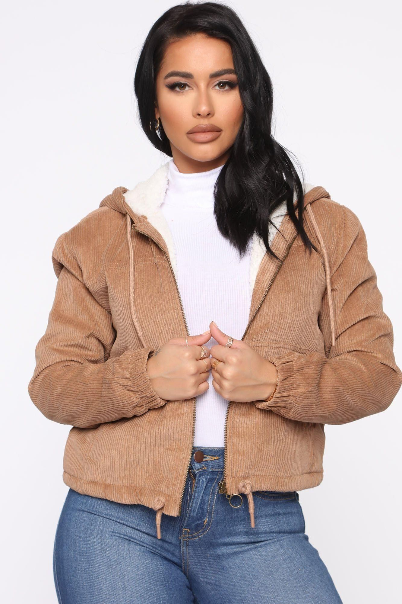 Women Alessandra Corduroy Bomber Jacket Tan 23 Bomber Jacket Fashion Fuzzy Jacket [ 2000 x 1333 Pixel ]