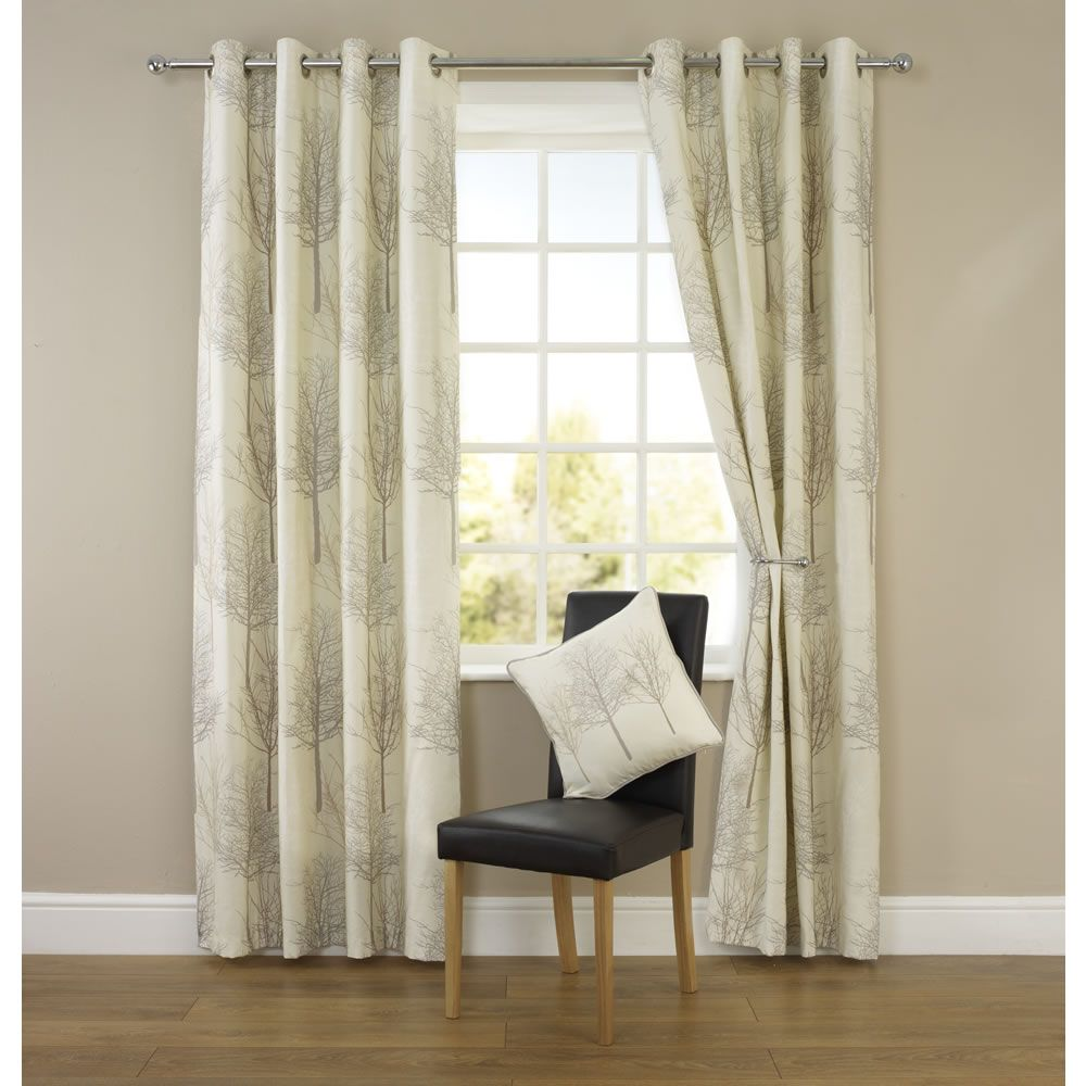 Wilko Tree Print Eyelet Curtains