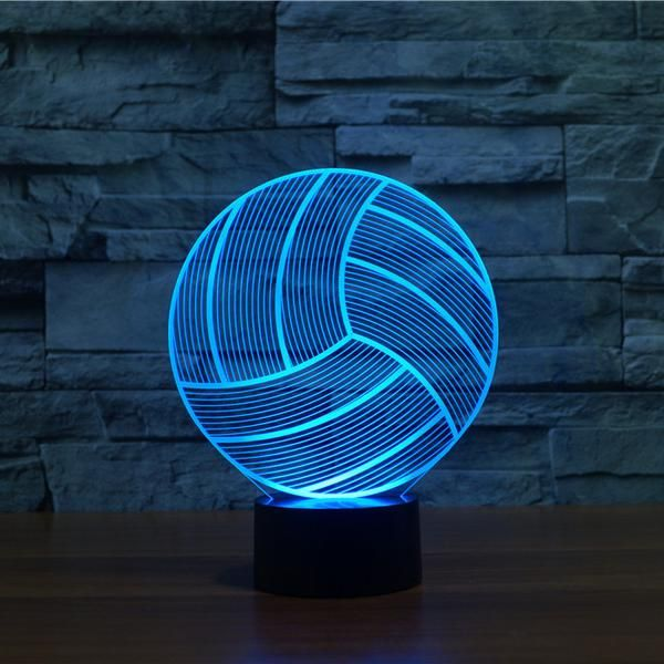The Volleyball 3d Led Lamp Creates An Optical Illusion That Tricks The Eyes Light Up Your Lives With Lampeez Volleyball Wallpaper 3d Illusion Lamp Volleyball