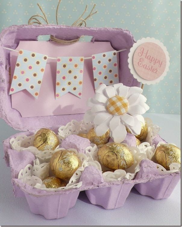 Anna Draicchio Easter Egg Box, using Sizzix dies including the Banners