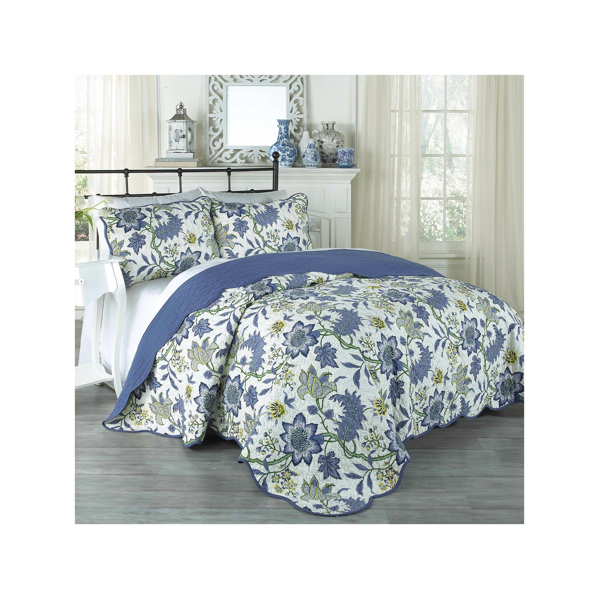 Set in Spring 3 Piece Quilt Collection by Traditions by Waverly