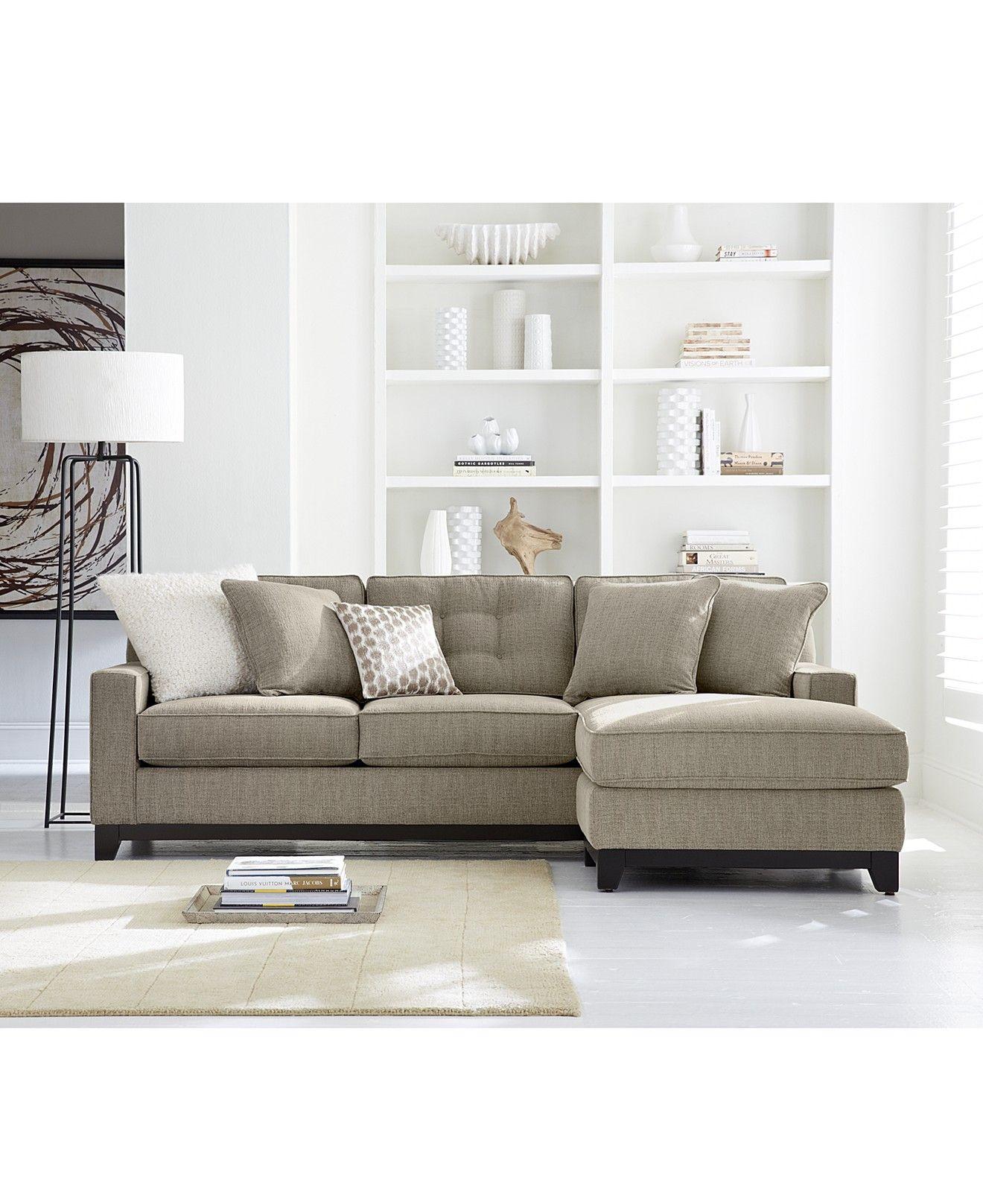 Clarke Fabric 2 Piece Sectional Sofa Custom Colors Sofas Furniture Macy S