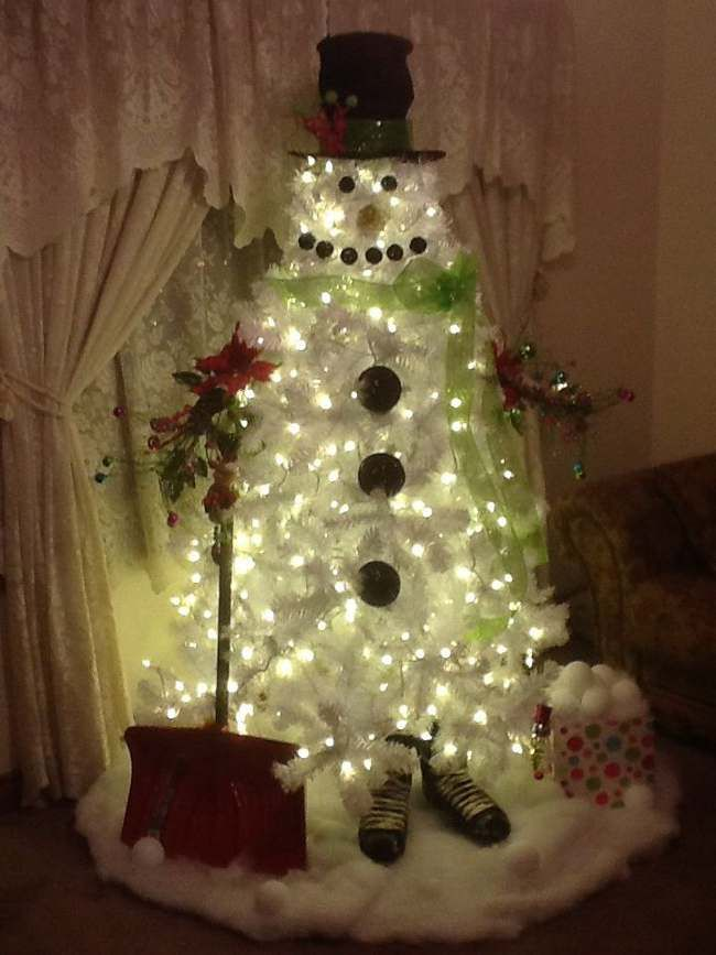 incoming search terms snowman christmas tree ideas snowman white