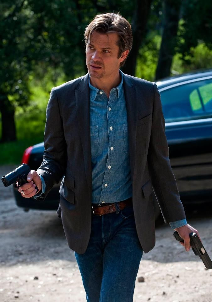 This is my kind of guy, two guns and not afraid to use them.
