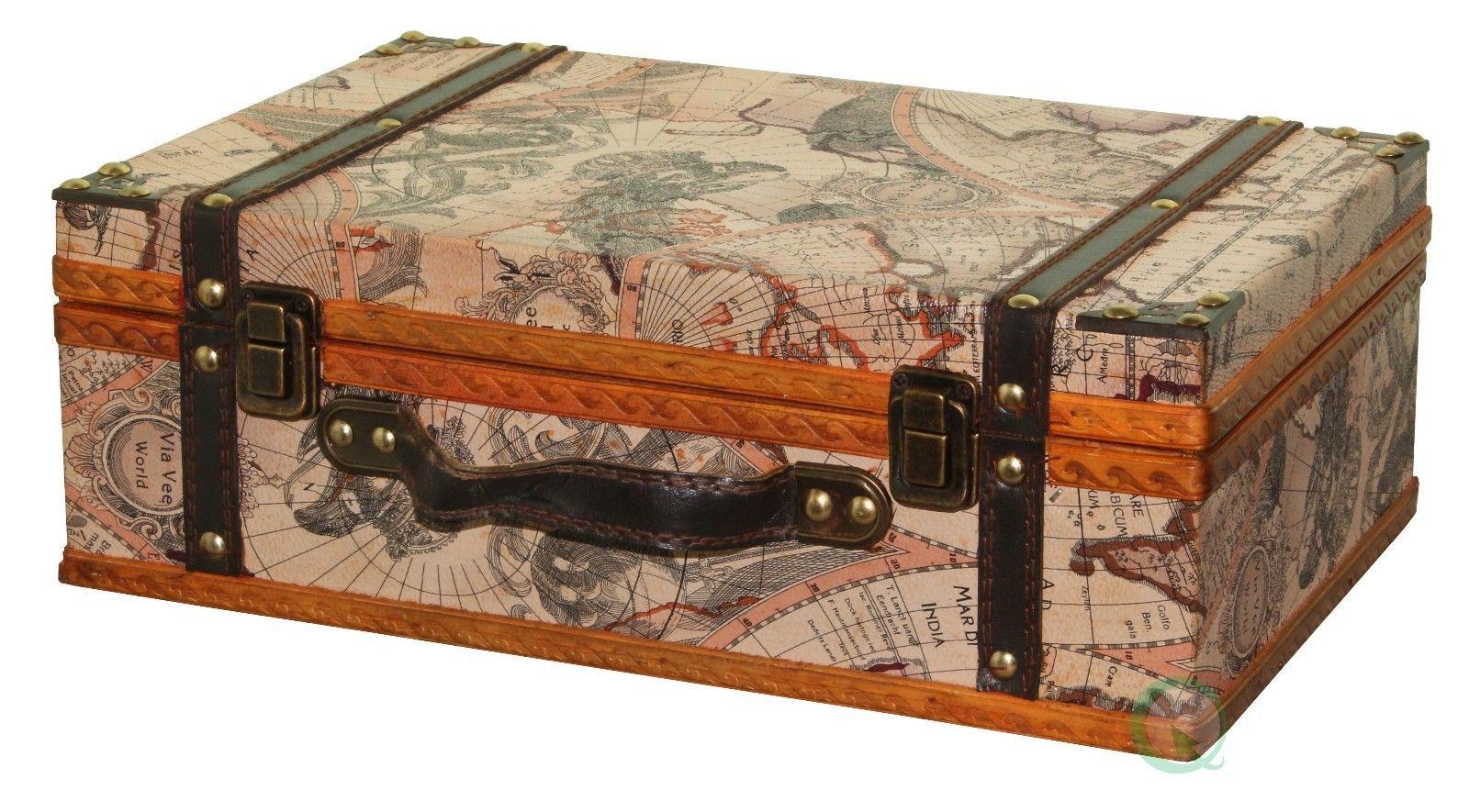Old World Map Suitcase | eBay