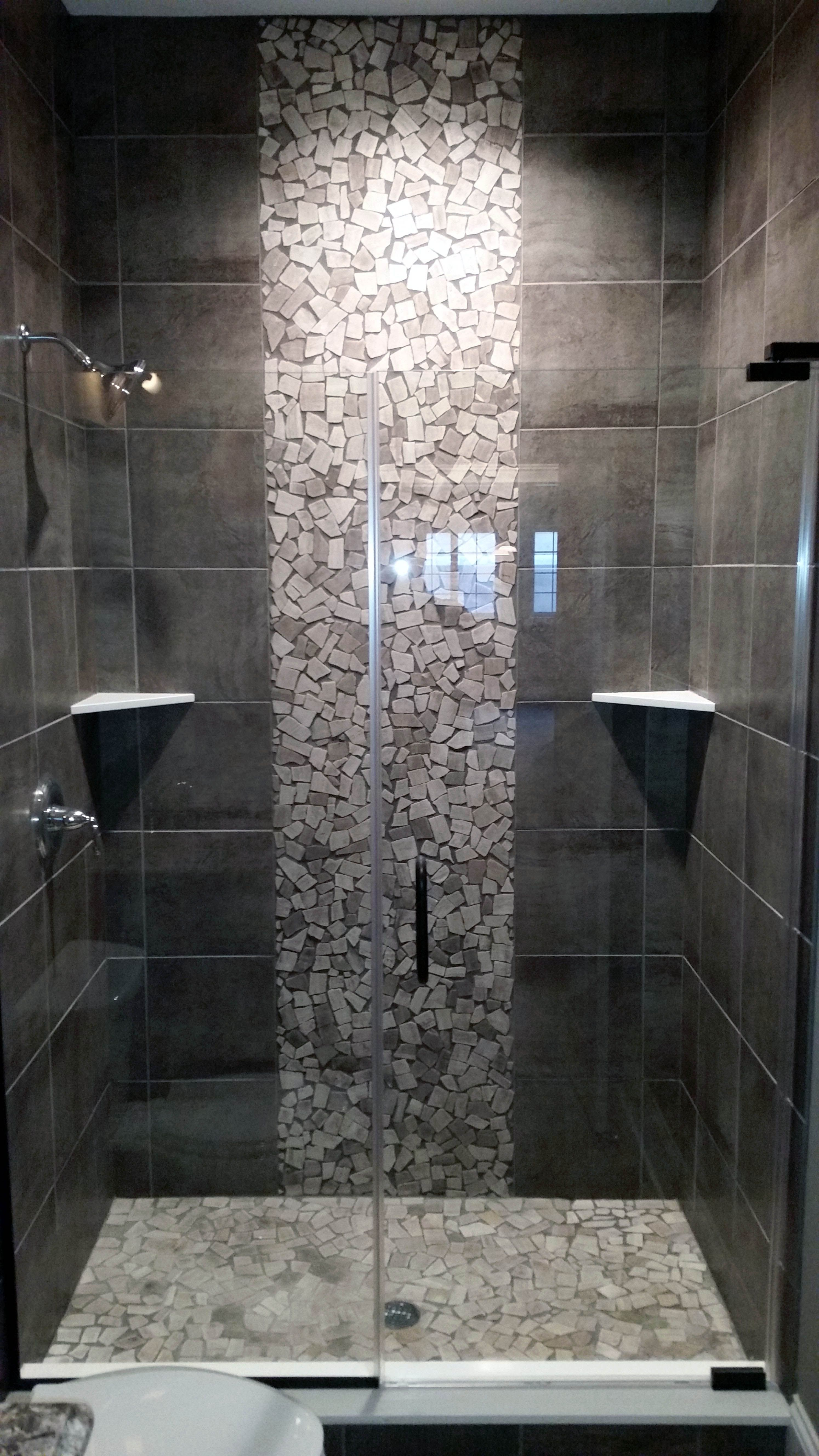 Bathroom Tile Ideas Floor An Accent Wall Has To Be Something That Can Draw Anyone S Attention I Bathroom Remodel Shower Shower Remodel Small Bathroom Remodel