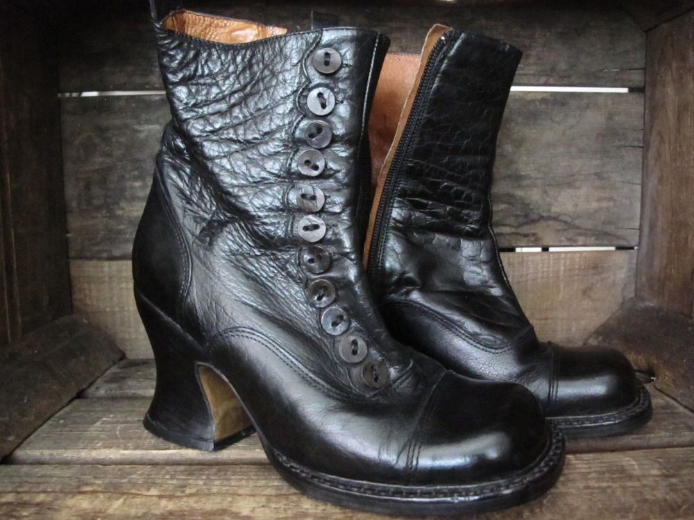 RARE Black Leather Boots El Dantes True Vintage Women's Size 7 ...