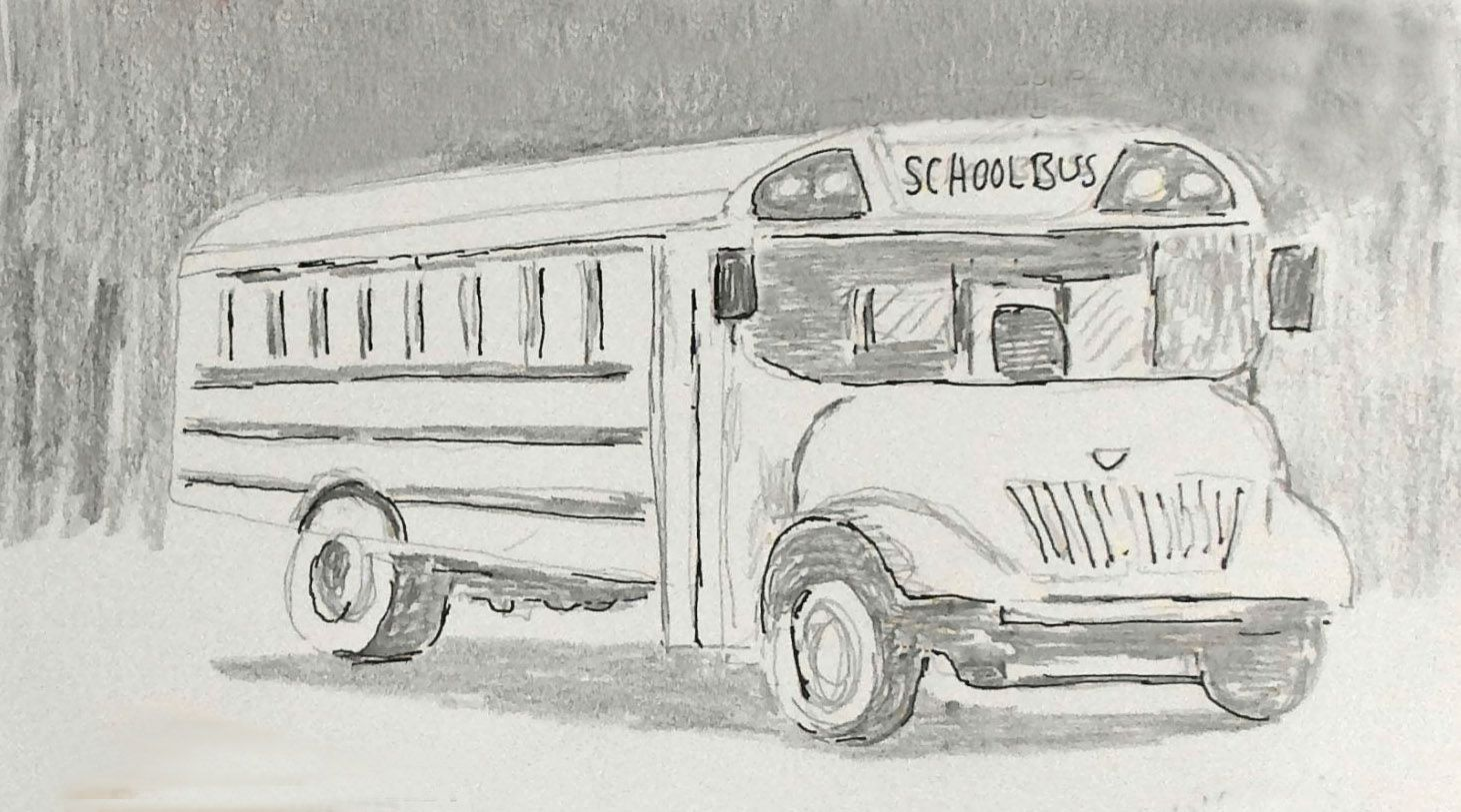 Daily Drawing No 159 School Bus Re Just Draw One Thing Today