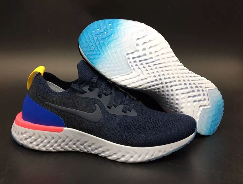 b291731108240 Nike Epic React Flyknit College Navy Pink Size 11 Mens Running Shoes   fashion  clothing