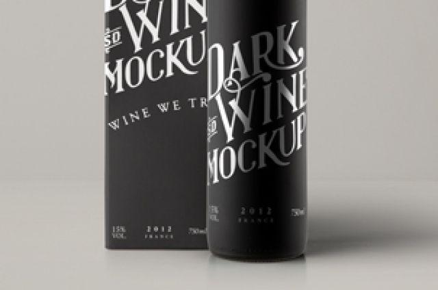 Download Psd Red Wine Dark Bottle Mockup Psd Mock Up Templates Bottle Mockup Red Wine Bottle