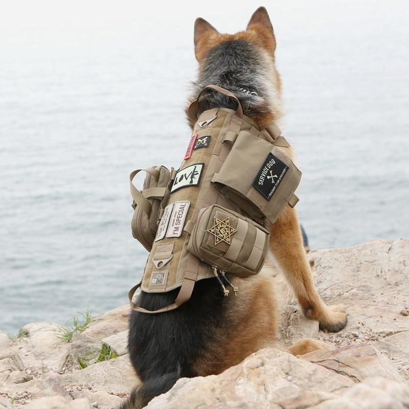 Military Tactical Dog Molle Vest Army Dog Clothes Hunting Police