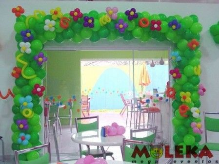 Decoracion con globos para fiestas infantiles buscar con for Decoracion simple con globos