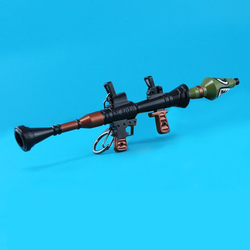 2018 Fortnite Night Pump Shark Rocket Keychain Keepsake Weapons