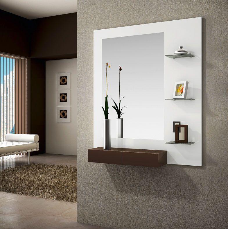 Consola Espejo Y Estanter A Perchas 31 Casa Y