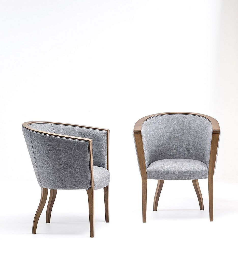 Fabric armchair with armrests MADISON 1494 Madison Collection by Bross Italia design Patrizia Guiotto