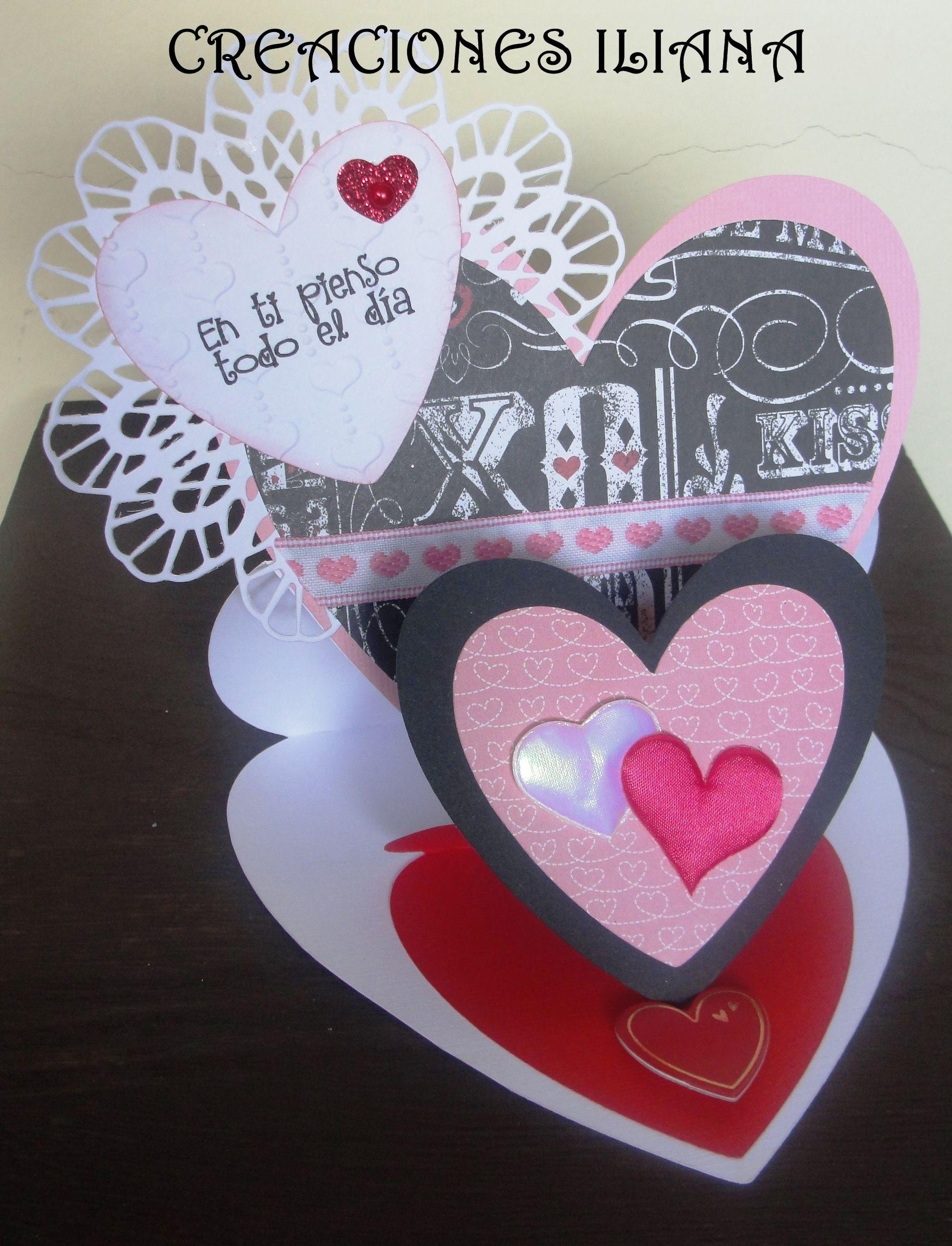 Tarjeta Para El Dia Del Amor Y La Amistad Manualidades Pinterest