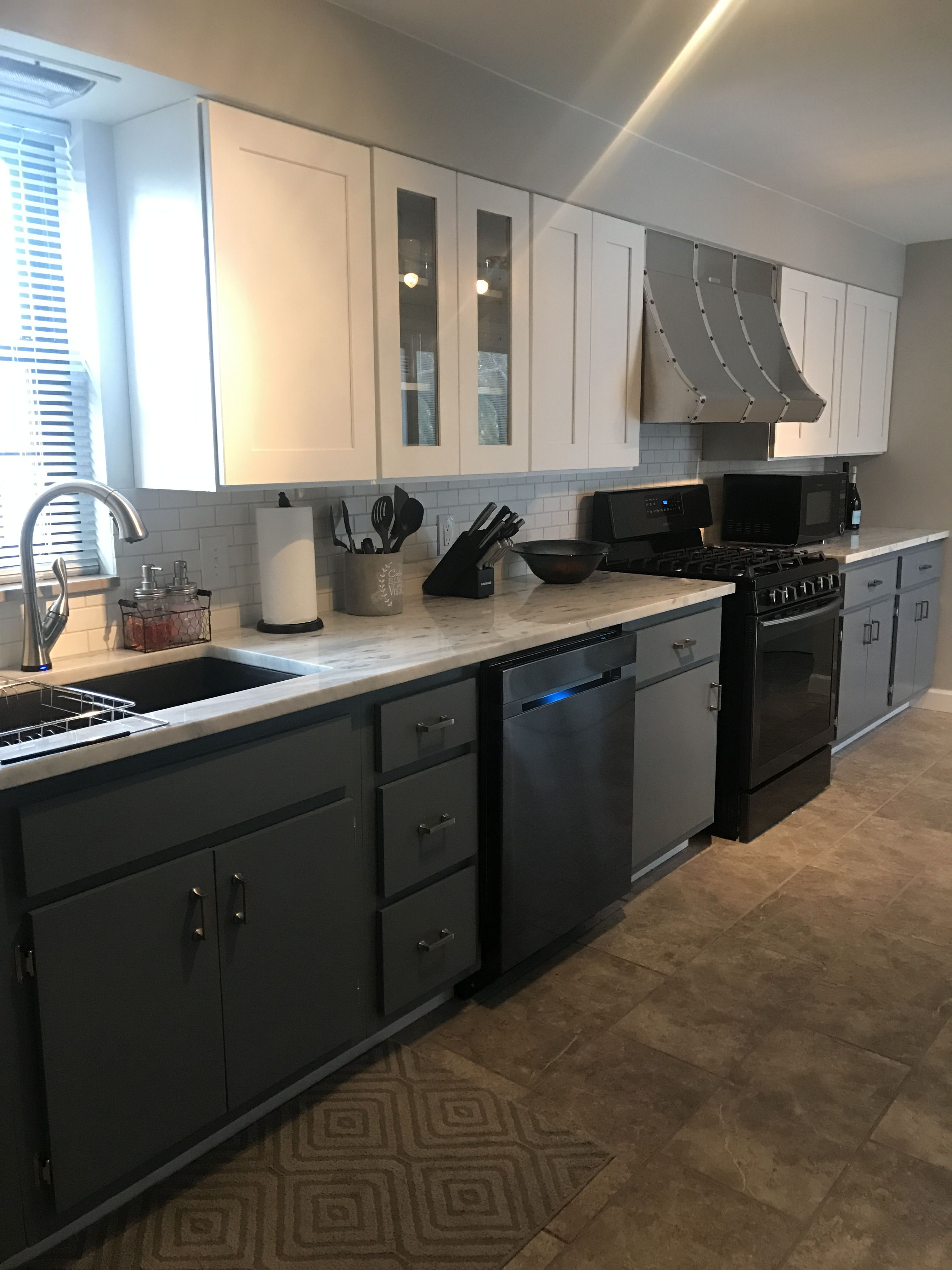 Kitchen Remodel - White Kitchen - Gray Kitchen - White And ...