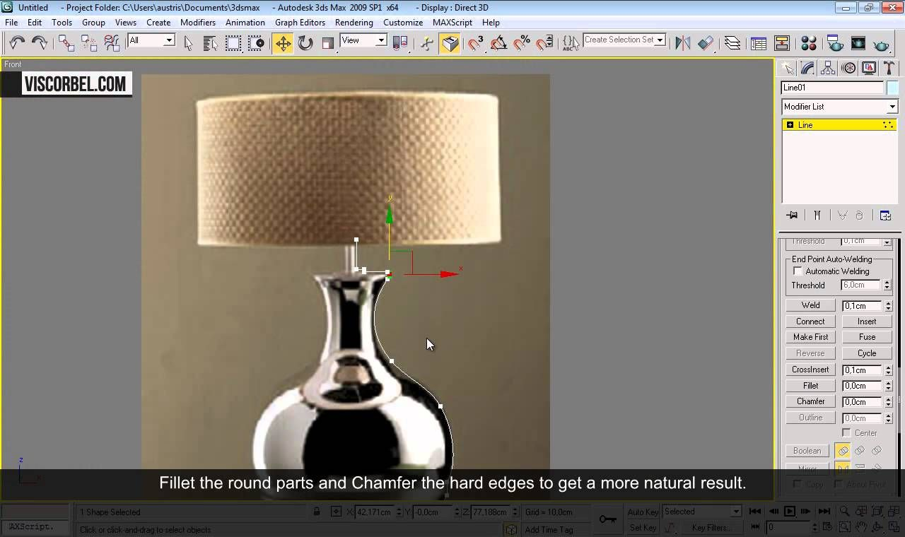 3d Max Tutorial Table Lamp