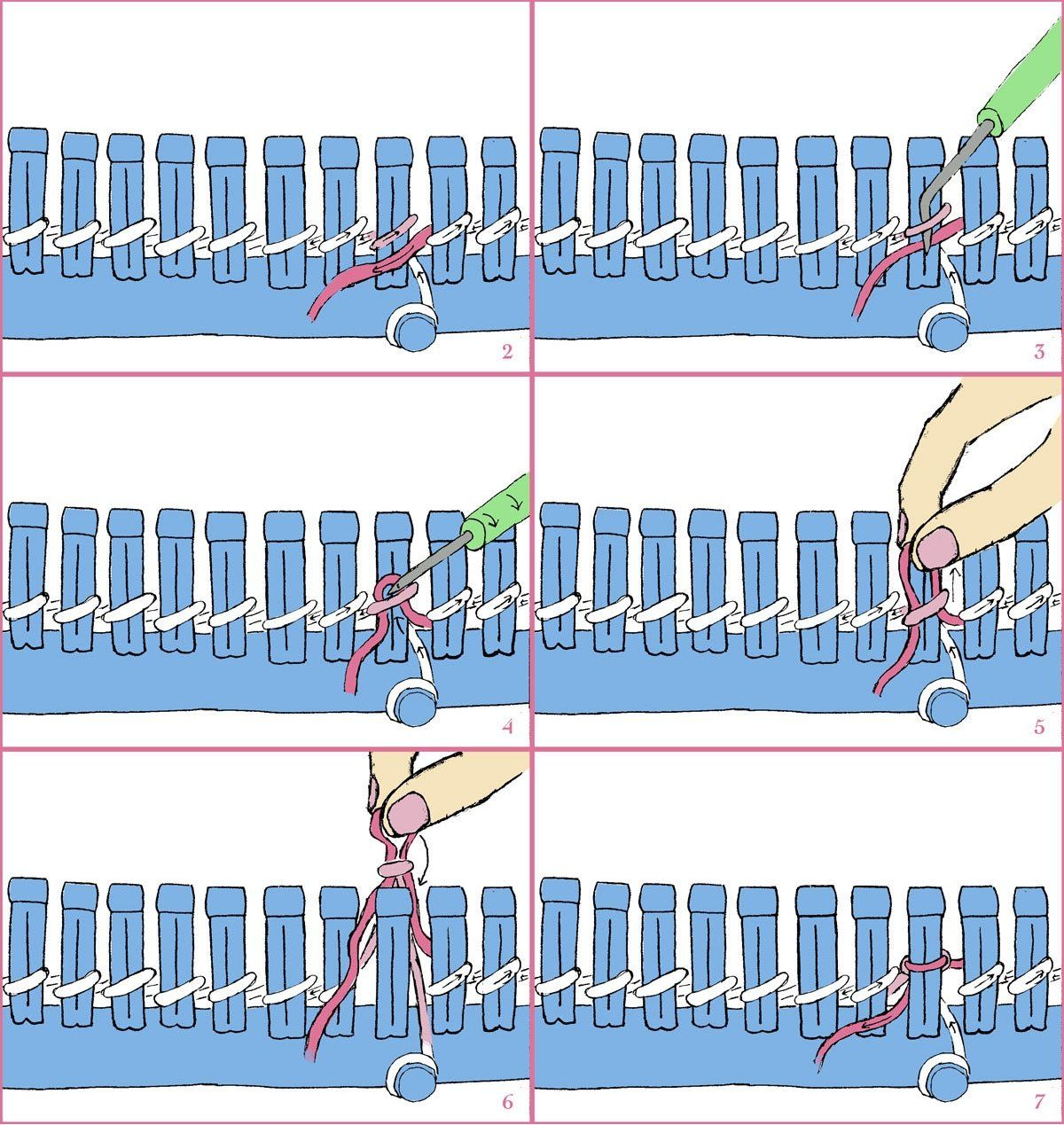 How to Cast on a Knitting Loom