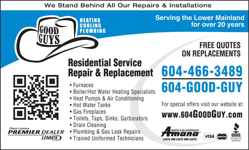 Good Guys Heating Cooling Plumbing Air Conditioning Contractors