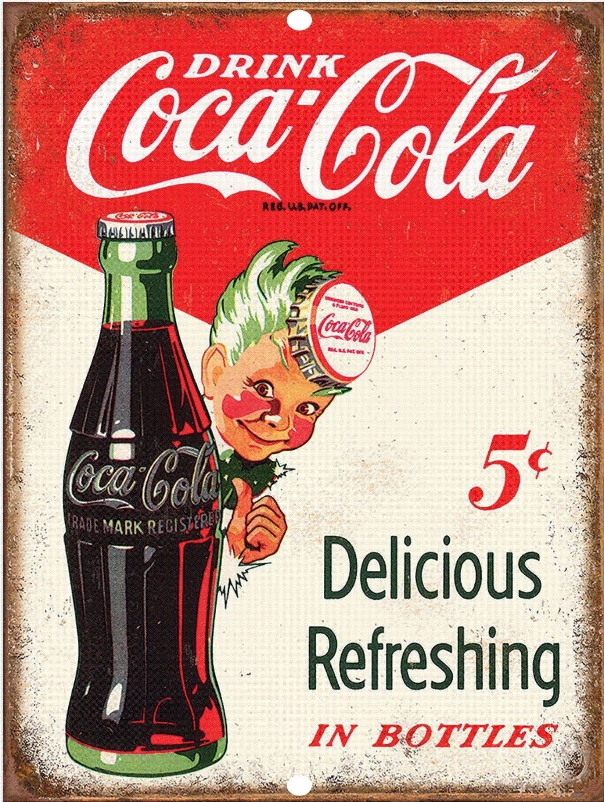 Cuadros De Coca Cola Vintage Retro Style Drink Coca Cola 5 Cents Reproduction