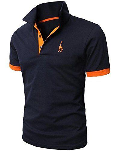 Idée  CadeauDeMerde     Glestore Polo Sport Homme Manches courtes Uni  Design Girafe 3b63eb6a434c