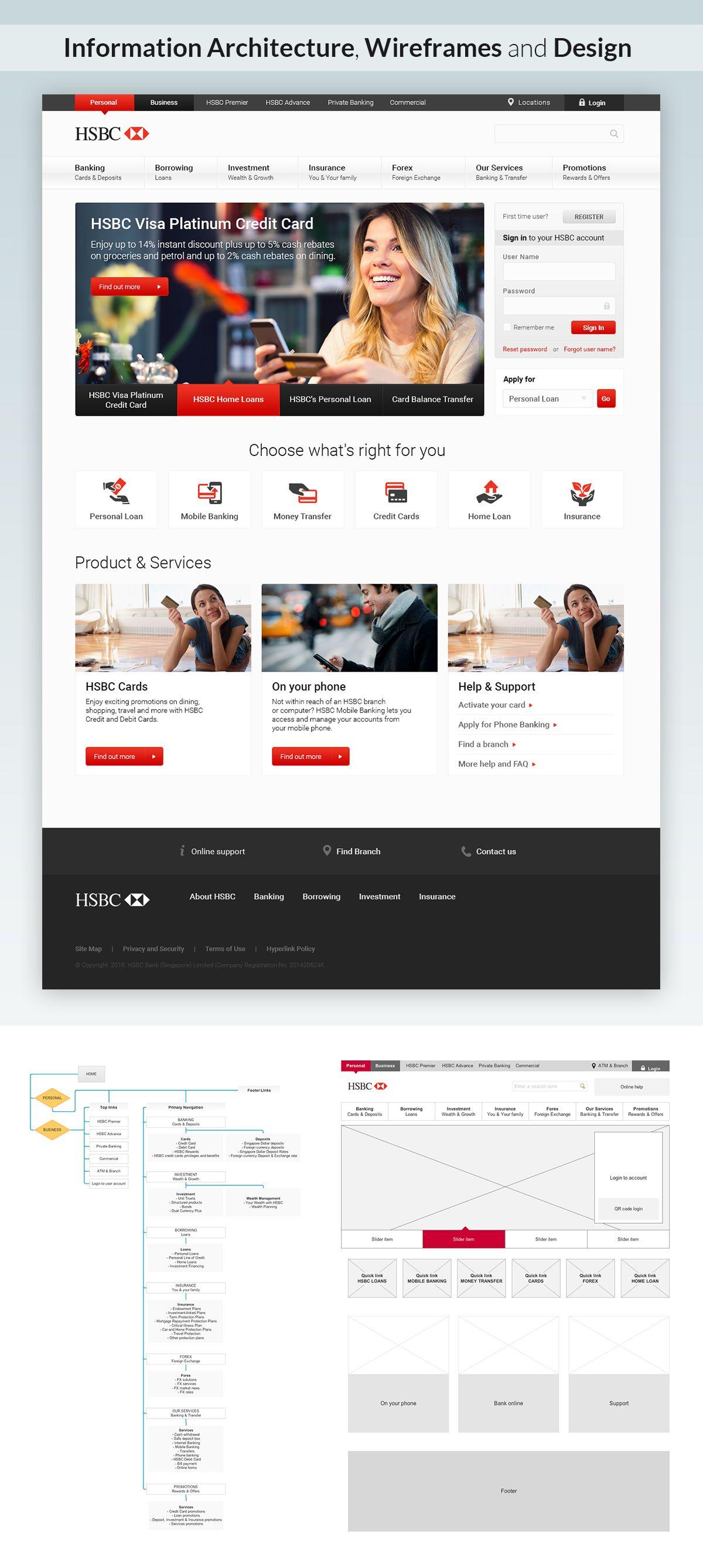 HSBC Singapore redesign concept on Behance | website