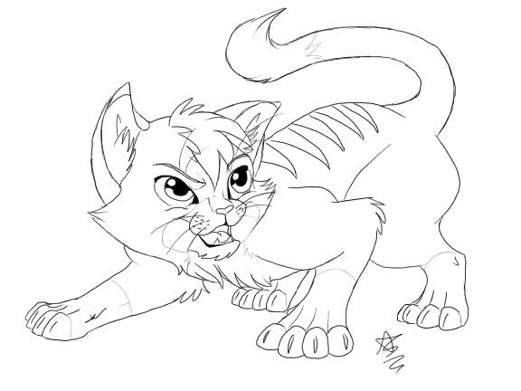Anthro Cat Lineart Kitty Lineart Commission By Line Art In 2019