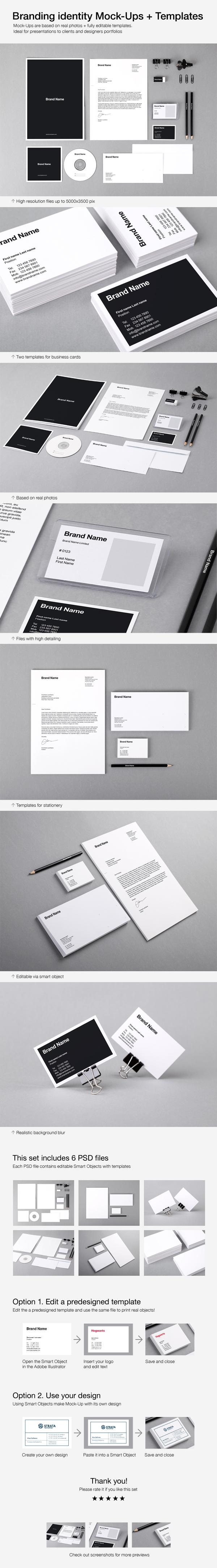Branding Identity Mock Ups and Templates by Vitaly Stepanenko on