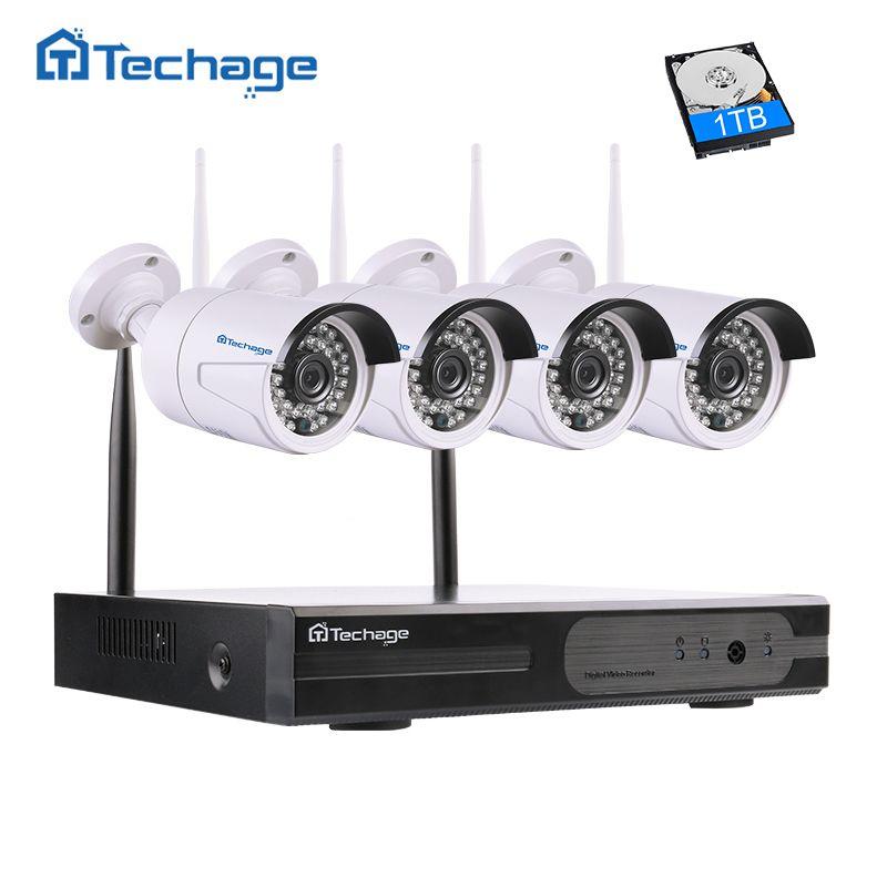 4CH 1080P DVR Wireless NVR Outdoor IR IP WIFI Camera CCTV Video Security System