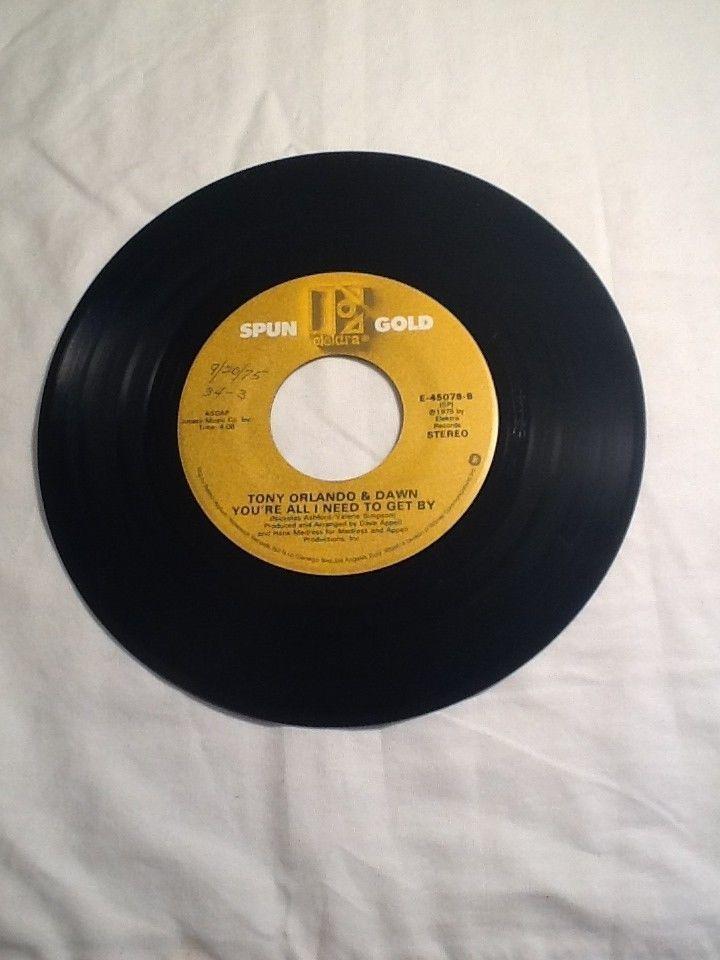 1975 45rpm Tony Orlando Dawn He Don T Love You You Re All I Need Elektra Tony Orlando And Dawn Tony Orlando 70s Music
