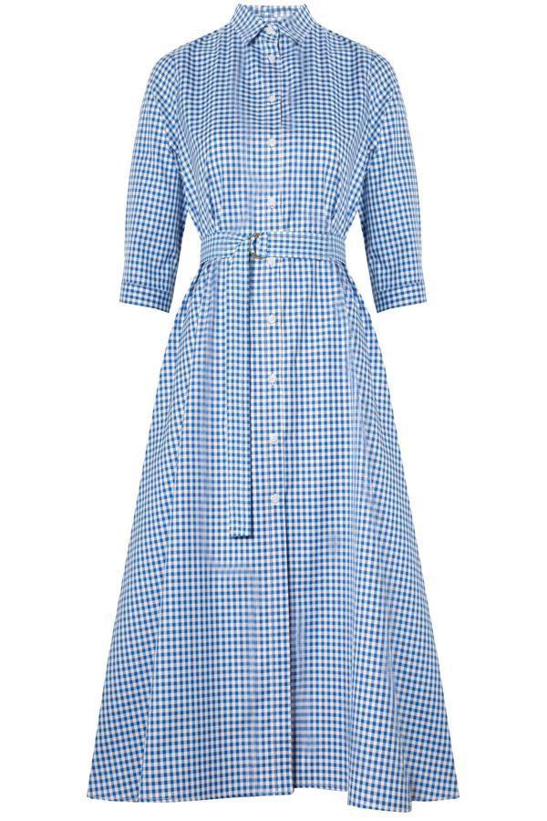 8b2be7d938 MDS STRIPES SHIRTDRESS COBALT CHECK.  mdsstripes  cloth   Striped Shirt  Dress
